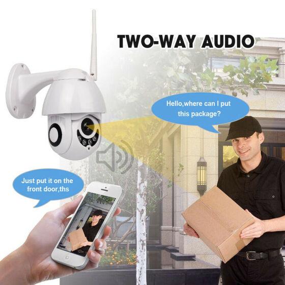 New 1080P HD 2.0MP Wi-Fi Night Vision Wireless IP Camera Remote Monitoring