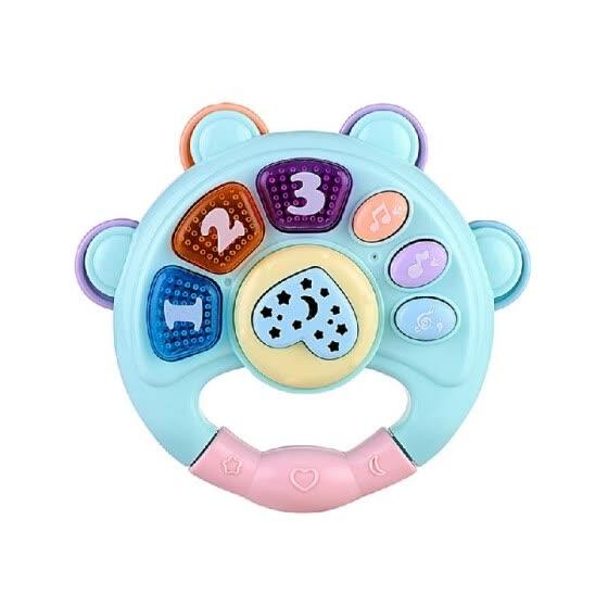 Игрушка для малышей Барабан Клавишный инструмент Инструмент Игрушка Развивающая игрушка для детей Центр игровой музыки с 4 детскими песнями + 3 истории