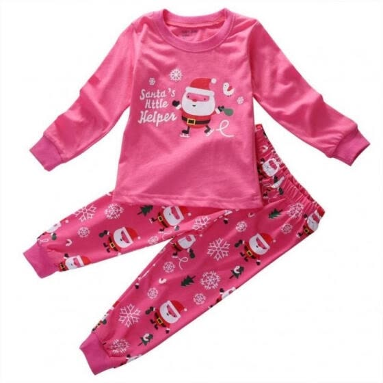 Xmas Santa Claus Baby Kids Boys Girls Nightwear Sleepwear Christmas Outfits Set Clothes