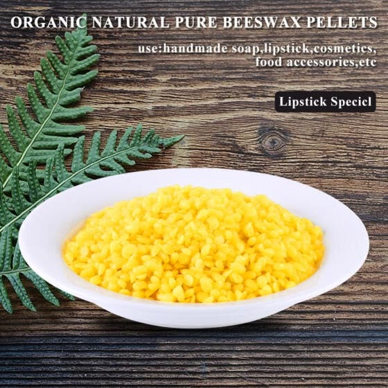 Greensen 50g Yellow Food Grade Pure Natural Beeswax Cosmetics Materials for Handmade Soap Making