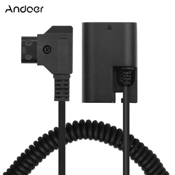 Andoer D-Tap to LP-E6 DC Coupler Adapter Fully Decoded Dummy Battery Accessory for Canon 5D2 5D3 5D4 6D 6D2 60D 7D 7D2 70D 80D 5DS