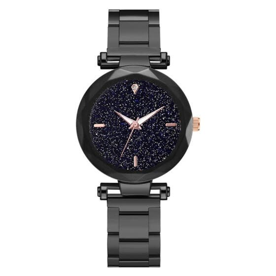 Luxury Women Watches Starry Sky Dial Ladies Quartz Wristwatch  Alloy Strap Clock Cool Multi-Faceted Mirror Montre Femme