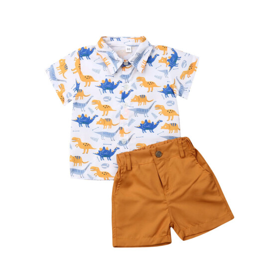 2Pcs Kids Baby Boys Summer Outfits Anchor T-shirt Tops+Shorts Pants Set Clothes