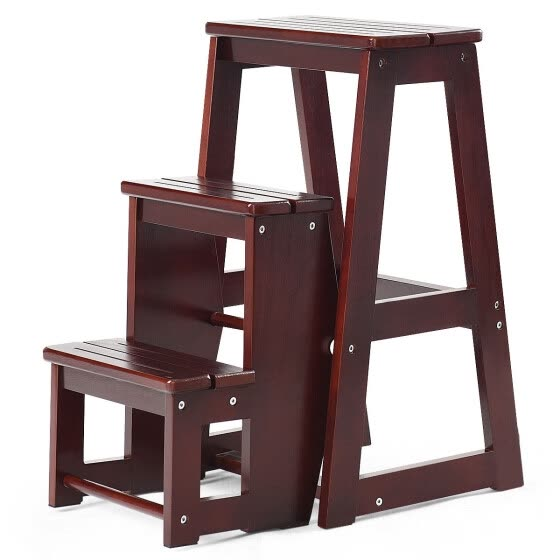 Superb Shop Folding Multi Functional 3 Tier Ladder Wood Step Stool Gmtry Best Dining Table And Chair Ideas Images Gmtryco