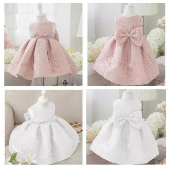 Infant Baby Girl Party Tutu Dress Pageant Wedding Birthday Princess Christening