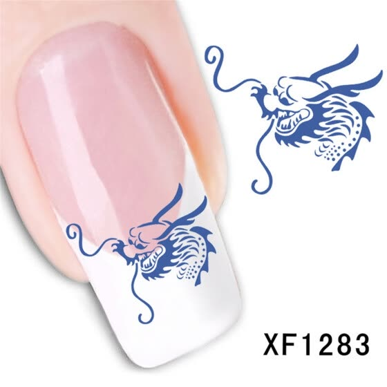 〖Follure〗Fresh Style Flower Print 3D Nail Art Stickers Manicure Adhesive Transfer Decals