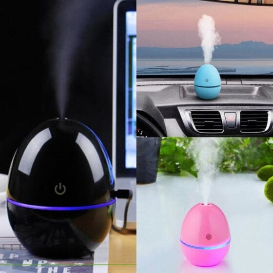 Portable Mini Home LED Night Light USB Humidifier Purifier Atomizer Air Diffuser