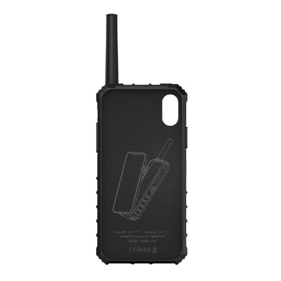 BOXCHIP IP01 S1000 Outdoor Walkie Talkie 3-in-1 Multi-function Intercom Power Bank Phone Case for iPhone X(Green)