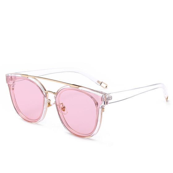 Double Beam Square Frame Sunglasses Transparent Color Vintage Ladies Glasses NEW