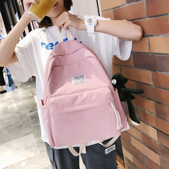 Japanese Tide brand ancient sense book bag Sen large capacity ins shoulder bag female Korean version of high school male college campus