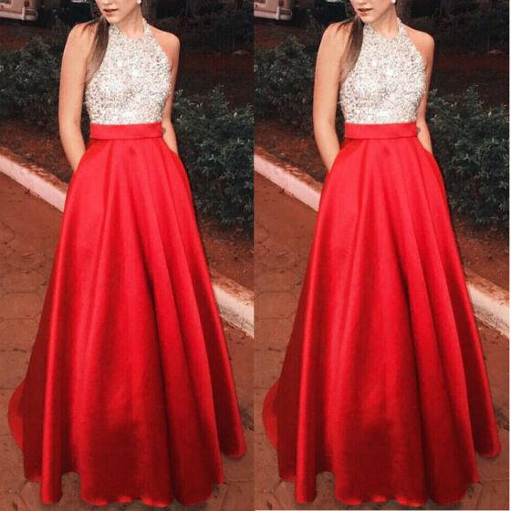 Women Formal Long Chiffon Cocktail Ball Gown Wedding Bridesmaid Evening Dress H