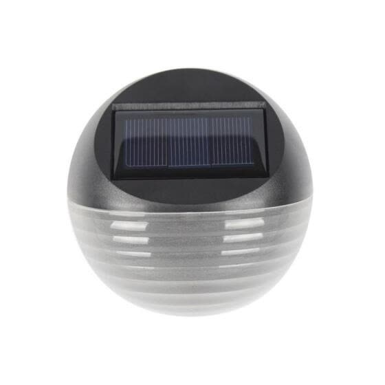 Outdoor Waterproof Solar Powered 6-LED Garden Lamp, Wall Mounted Lawn Porch Light