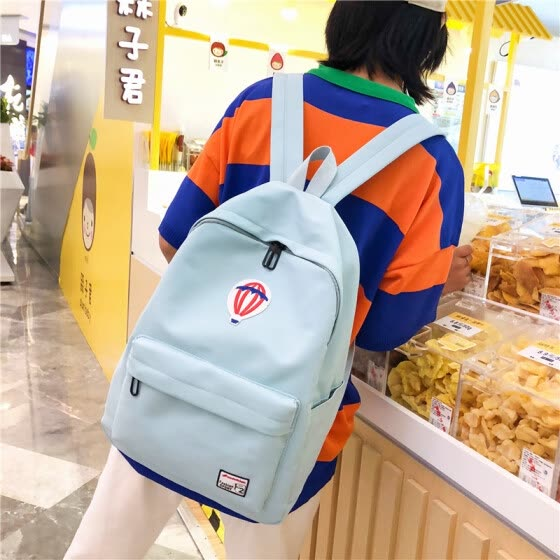 Inswind schoolbag female Korean version of high school students nylon cloth Johnson Department of antique feeling young girls make