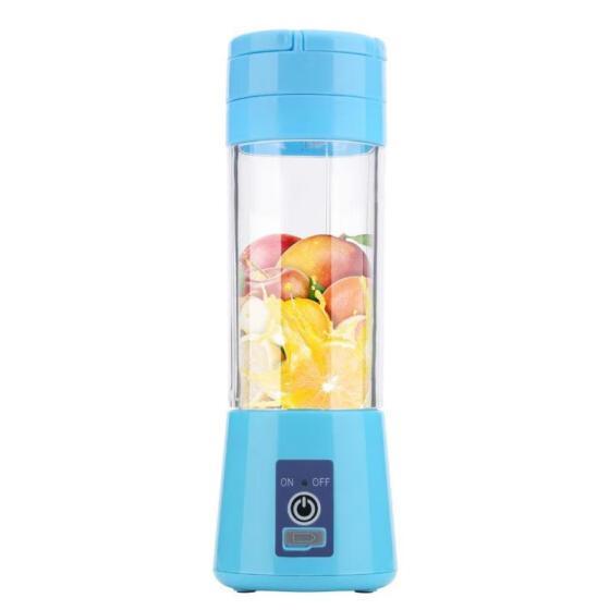 Oasismall 380ml Portable USB Rechargeable Juicer Mini Juice Extractor Household Juice Machine