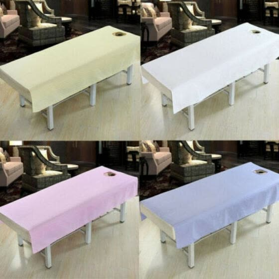 US Stock Cotton Fashion Beauty Salon Body Spa Massage Table Cloth with Face Hole