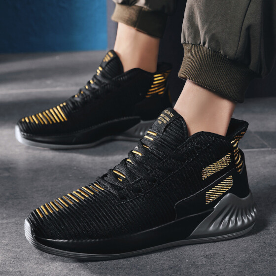 Men Fashion Basketball Shoes Women Breathable High Top Boots Sport Sneakers 2019