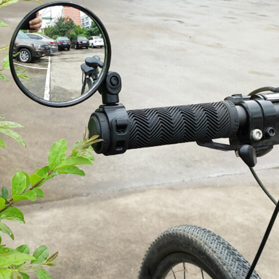 Safe 360° Rotation Bike Bicycle Rearview Mirror Glass for 15-35mm Handlebar