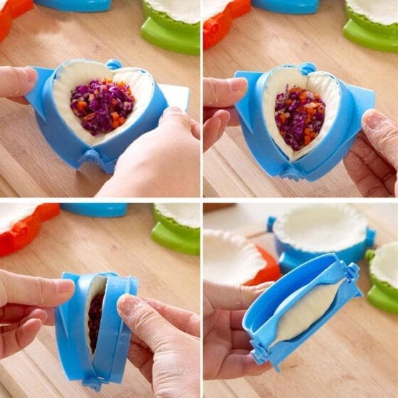 Convenient Dumpling Maker Device DIY Jiaozi Mold Kitchen Gadgets Cookling Tools (Random delivery)
