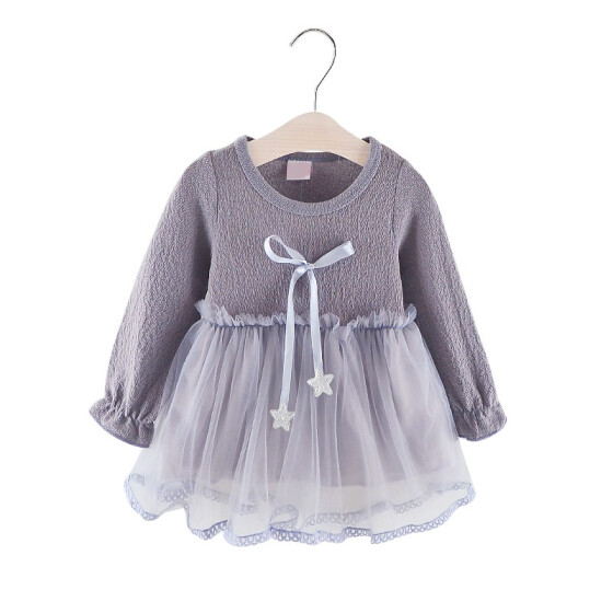 0-36M New Baby Girls Dress Toddler bowknot flower Party Clothes size:
