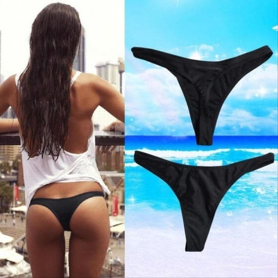 Women Sexy Brazilian Bikini Swimwear Beach Bathing T-Back Bottom Thong G-string S M L XL XXL