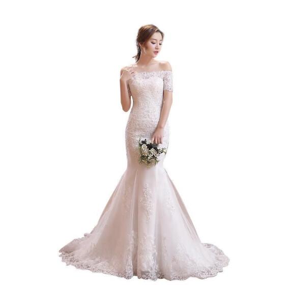 Shop Wedding Dress 2018 The Bride Short Sleeve Classic Lace