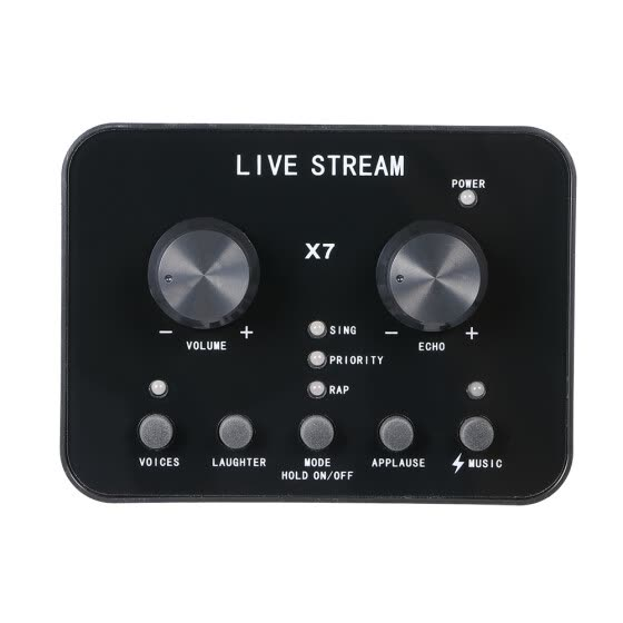 Live Stream Sound Card Mobile Phone Live with 1000mAh Built-in Battery Portable Size Streaming Mixer Universal Compatibility
