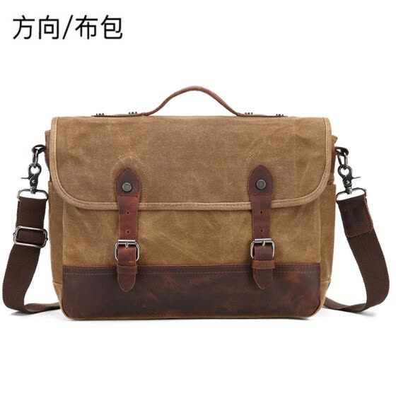 Direction cloth bag outdoor camera canvas bag oil wax canvas shoulder bag bag slung casual computer bag