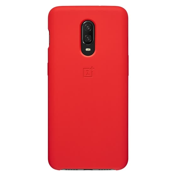 Original OnePlus 6T mobile phone silicone protective case (red)