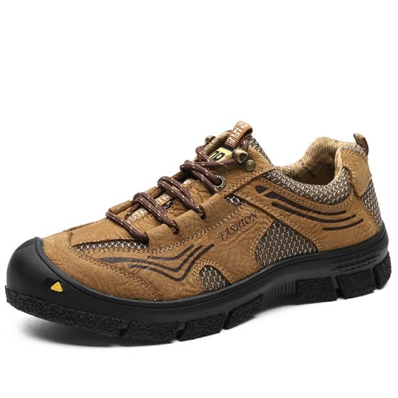 Trend casual hiking shoes men's rubber non-slip wear-resistant outdoor walking shoes breathable sneakers