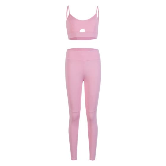 Women 2PCS/Set Sports Suit Crop Top Pants Outfit Yoga Workout Clothes
