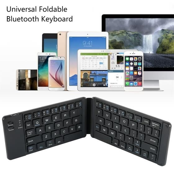 Universal Bluetooth Wireless Foldable Mini Keyboard USB Charging Keyboard Computer Mobile Phone Tablet Office