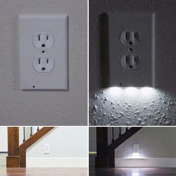 Shop Fashion Plug Cover Led Night Angel Wall Outlet Face Hallway