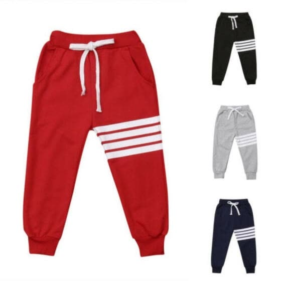 Toddler Kids Baby Boy Girl Elastic Trousers Harem Long Pants Leggings Bottoms UK