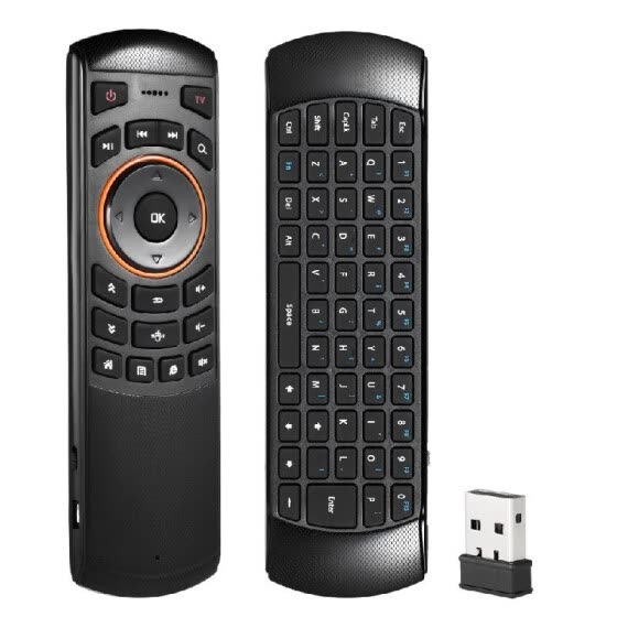 Mini 2.4GHz Wireless QWERTY Keyboard Air Mouse Handheld Remote Control 6 Gxes Gyroscope for Windows /Mac OS/Linux/ Android TV Mini