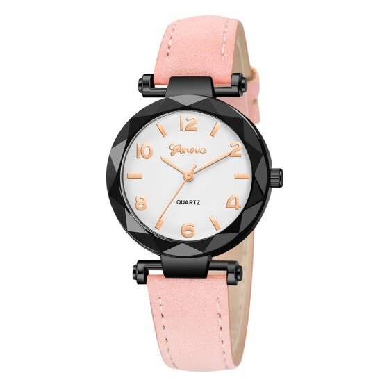 RM Fashion Women 's Leather Band Geneva Analog Quartz Diamond Wrist Watch Watches