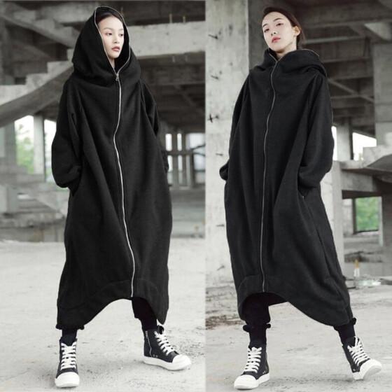 Ladies Winter Solid Long Sleeve Casual Hooded Sweatshirt Pullover Tops Blouse