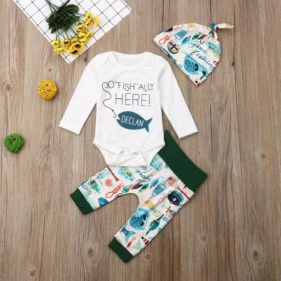 Autumn Infant Baby Boy Girls Long Sleeve Romper Clothes Leggings Casual Outfit Set