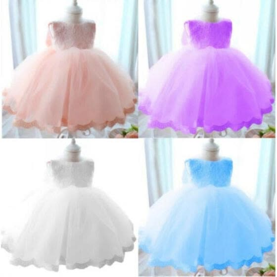 Flower Toddler Kids Girls Lace Bridesmaid Wedding Pageant Party Formal Dress AU
