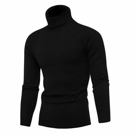 Men's Slim Fit Winter Fashion Neck Turtleneck Sweater Stretch Jumper Shirt