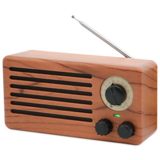 Portable Wireless Bluetooth Speaker Retro Wood Grain Sound Box Stereo Music Player Support FM Radio TF Card MP3 U Disk USB Play