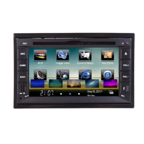 "Universal 6.2"" 2 Din Mirror Connect Android Cellphone Car DVD/USB/SD Player 3G WiFi BT GPS Radio HD Car Entertainment System"