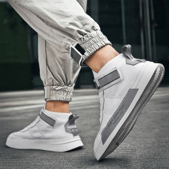 High-end shoes, men's Korean style sports shoes, men, white shoes, autumn 2019 new casual shoes, men's tide