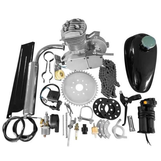 Bicycle Engine Kit 80cc 2-Stroke Bike Gasoline Motorized Gas Engine Bike Motor Kit for 26 28 Wheeled Bikes