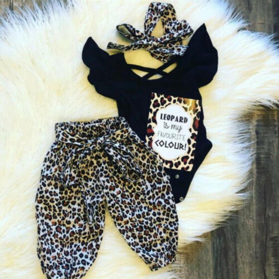 3pcs Newborn Toddler Baby Girl 4th of July Crop Tops+Pants Headband Outfits Set