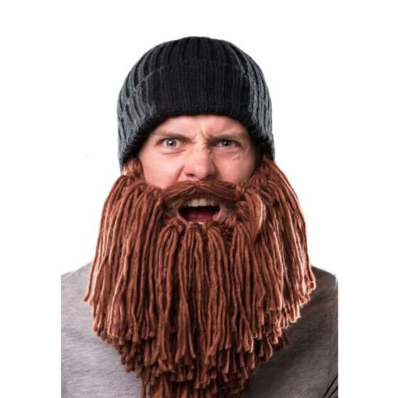 Funny Winter Viking Long Beard Wool Cap Crazy Men's Warm Cosplay Beanie Hats Knitted Wind Ski Caps Face Mask