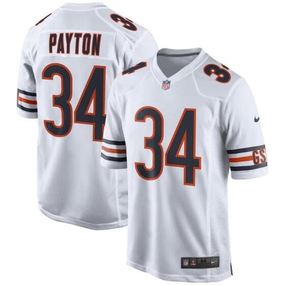 info for c8fd0 ea64a Shop Mens Football Jersey Chicago Bears Walter Payton White ...