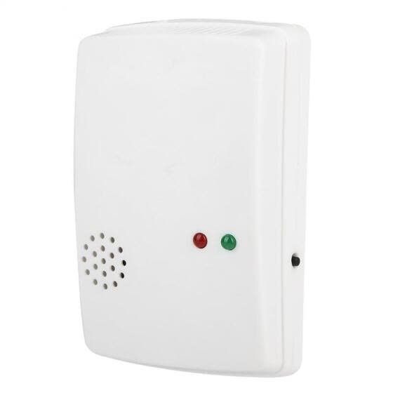 Greensen Wall Mounting Type 220V Household Gas Detector Natural Gas Sensor LPG Alarm Monitor EU Plug