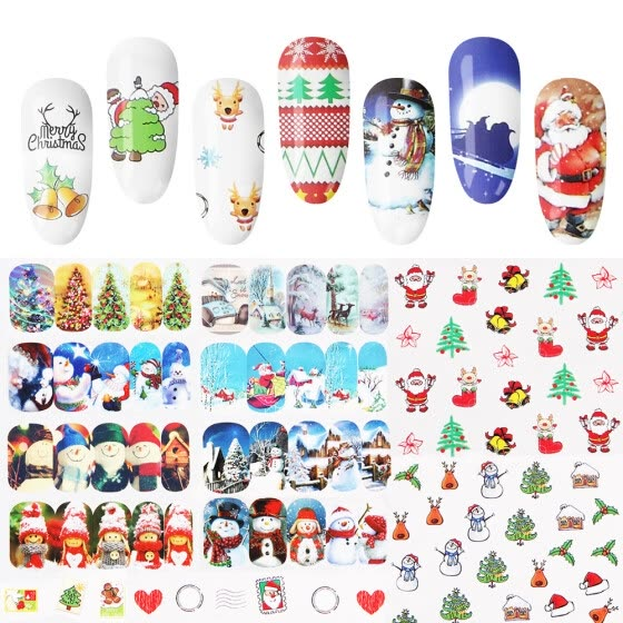 Nomeni 48PCS DIY Christmas Nail Stickers Snowflake art nail Set Sticker