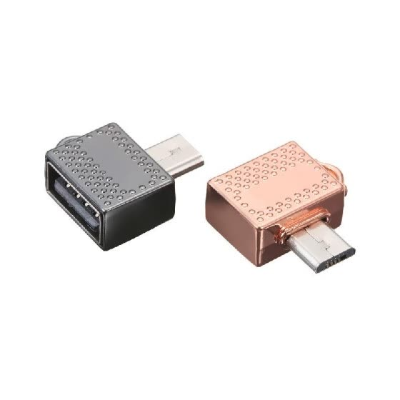 Mini USB OTG Adapter Micro USB to Type-C Converter for Huawei Xiaomi Samsung Phone Tablet U Disk (Gold)