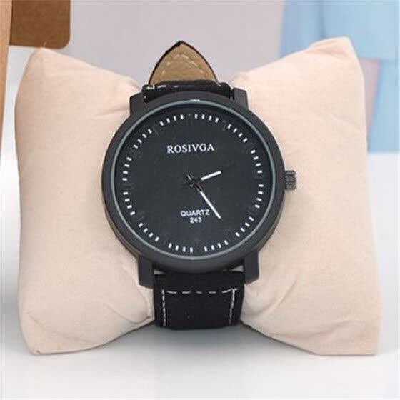 Korean version of the big dial Harajuku style retro style simple female watch fashion belt tide male middle school stude